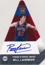 12/13 Bill Laimbeer Panini Preferred Red Auto