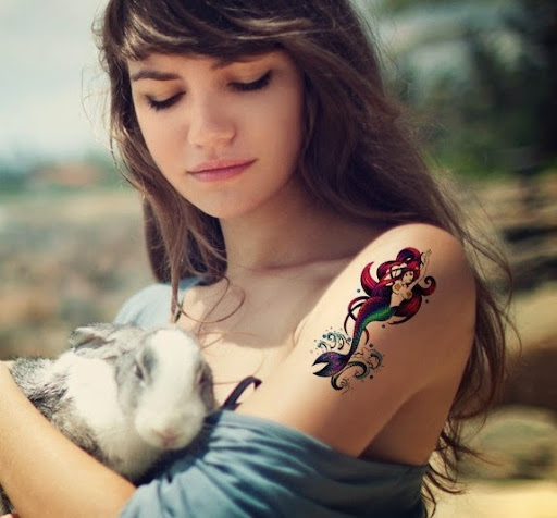 50 Lovely Mermaid Tattoos For Women: 50 Beautiful And Cute Mermaid Tattoos Designs And Ideas