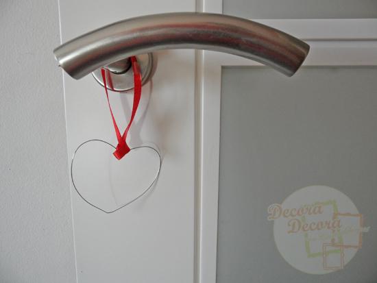 corazón para decorar San Valentin.