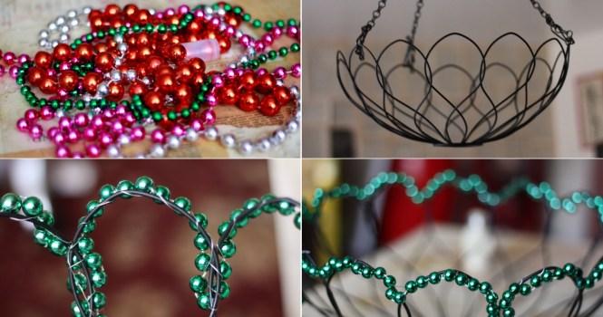 Mardi Gras Beads Redux Funkytown Ceiling Lamp