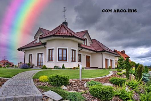 Imagem com o arco-íris pronto