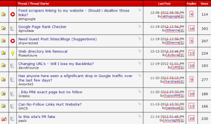 Screenshot of Internet Marketing Forum