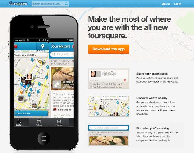 Foursquare llega a la versión 5.0