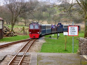 Our train arrives at Irton Road Station