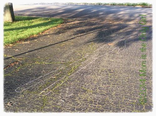 Http://www.momistheonlygirl.com Sun experiment chalk tracing