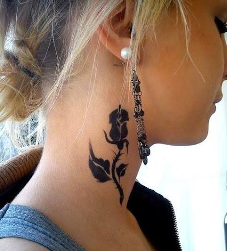 black rose tattoos for girls