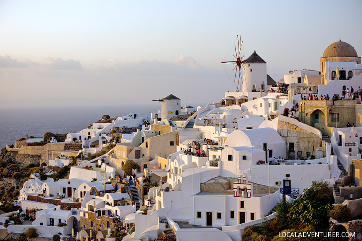 Best of Greece: Best Sunset in Greece at Oia Santorini Island.