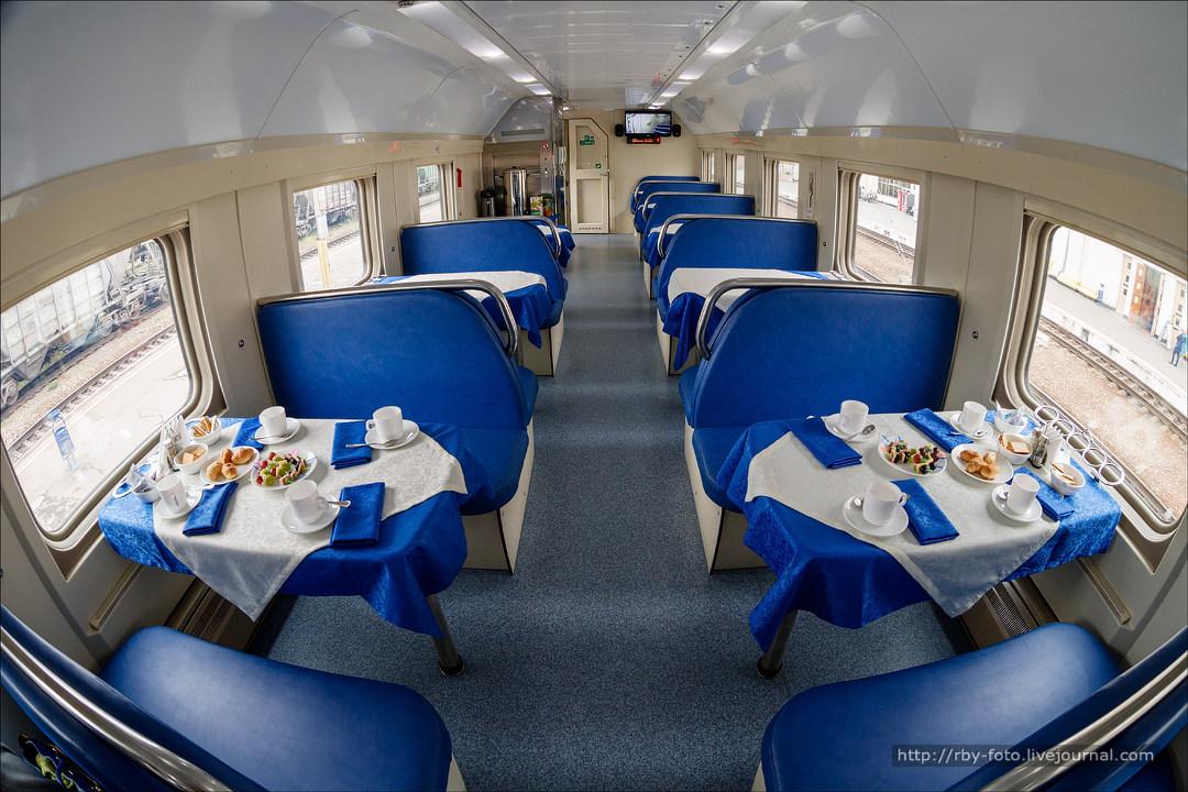 Фото вагонов двухэтажного поезда