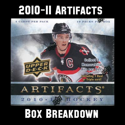 2010-11 Artifacts Box Break