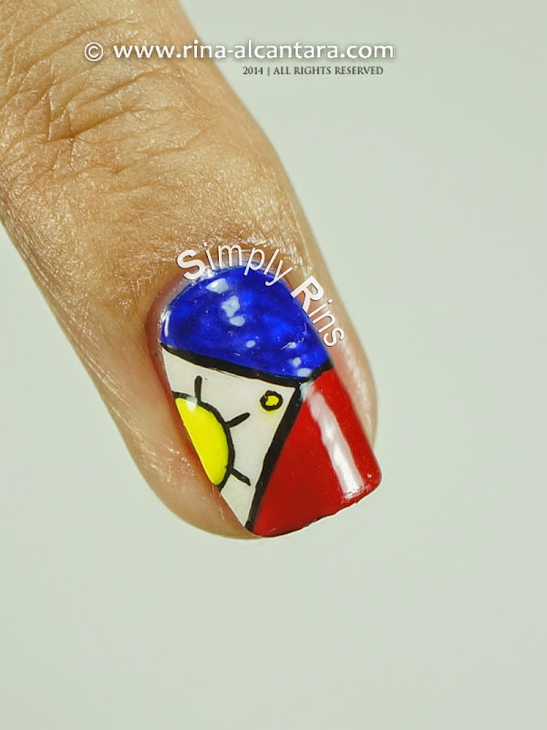 Philippine Flag Nail Art By Simply Rins