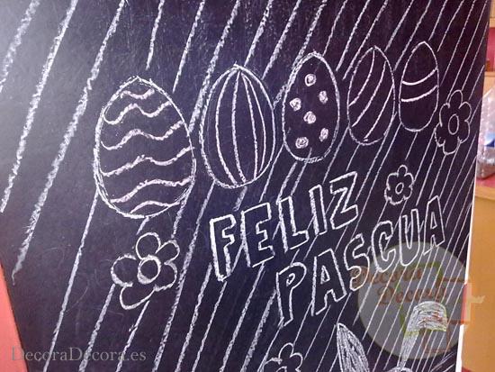 Pared decorada para Pascua.