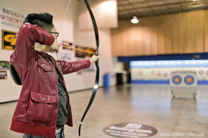 Archery in Las Vegas.