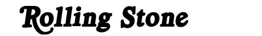 Royal Acidbath font logo revista Rolling Stone