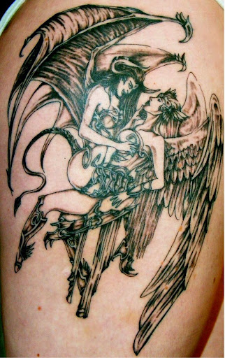 angel &devil tattoos