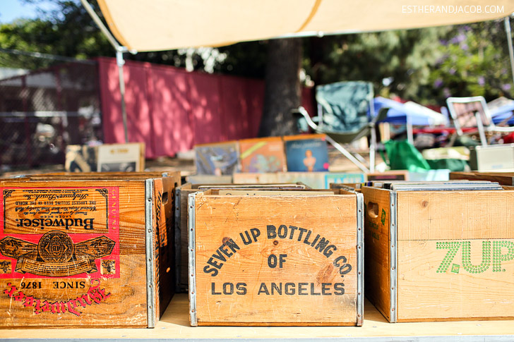 Melrose and Fairfax Flea Market Los Angeles Sunday.