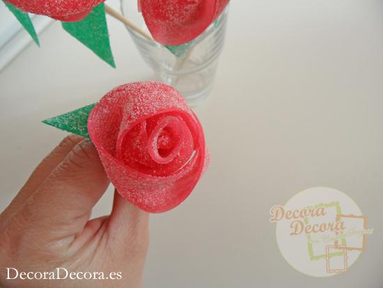 Cómo hacer rosas con puromoros de regaliz.