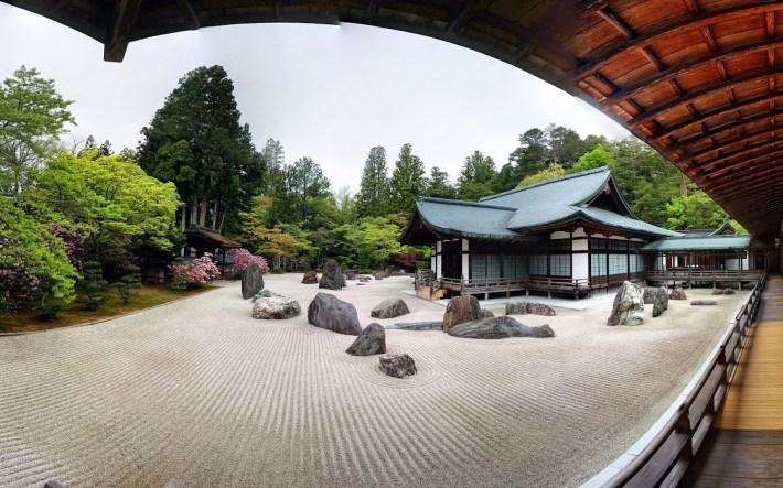 Jardín seco en el templo Kongobuji