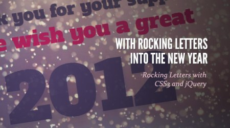 Happy New Year 2012 ด้วย css3 และ jquery