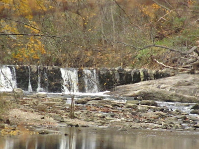 a dam in Wissahickon Creek