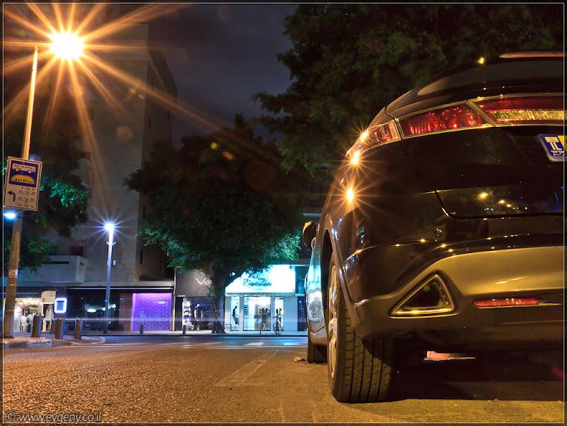 Ночь, улица, фонарь... Тель Авив, Дизенгофф, Honda, я