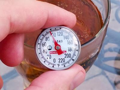 100 degree temperature beer
