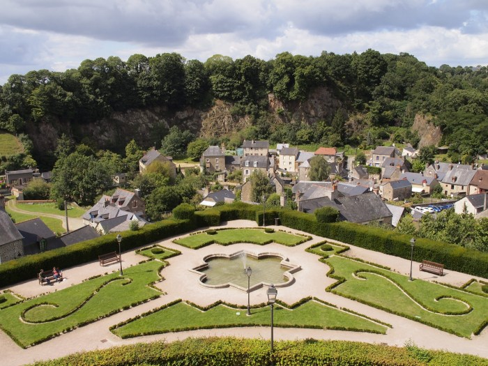 View from Fougeres' Place aux abres (public garden)