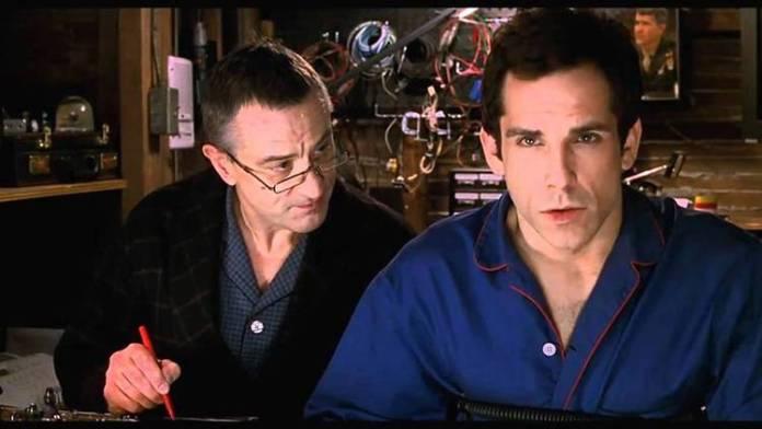 Robert DeNiro sometiendo a Ben Stiller al polígrafo