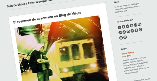 Blog de Viajes, edición vespertina en Tumblr