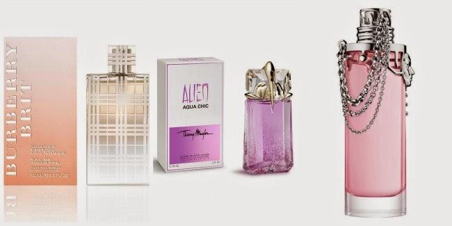 Promoções perfumes Sephora Alien Burberry Womanity