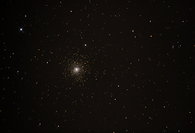 M15 globular cluster, 7x20s ISO3200 exposures and in-camera dark frame subtraction