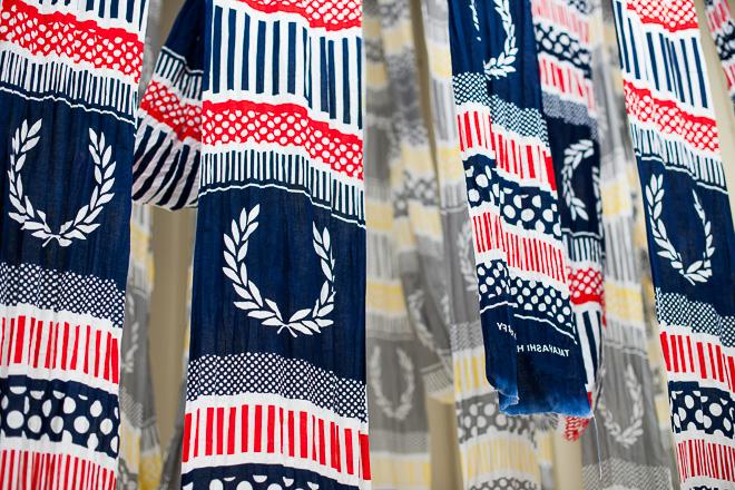 #藝術家高橋理子嶄新水玉線條呈現:FRED PERRY日本傳統手工拭巾 1