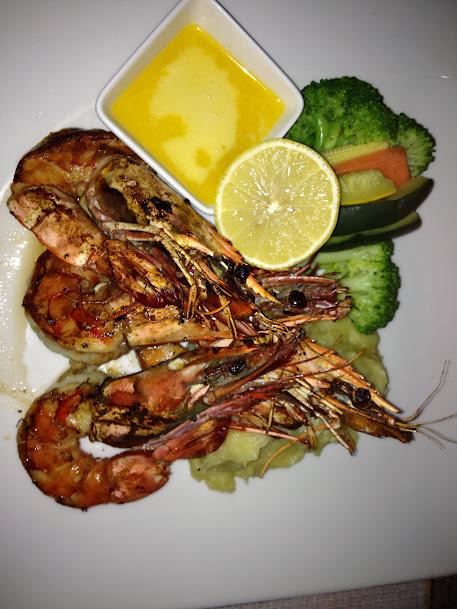 Omani shrimps for dinner, Muscat, Oman