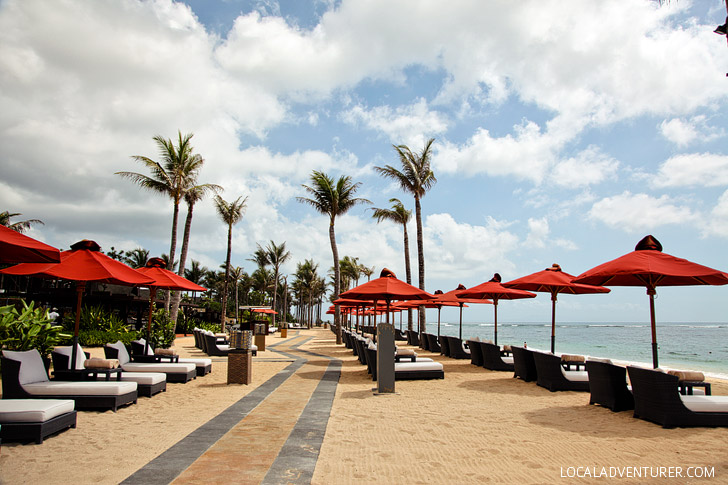 Nusa Dua Beach at the St Regis Resort Bali Indonesia.
