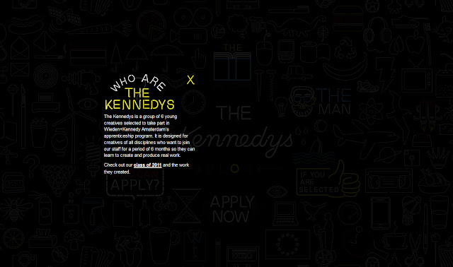 *充滿霓虹燈元素的網站:The Kennedys Web Site 2