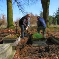 Prace na cmentarzu ewangelickim w Krobii