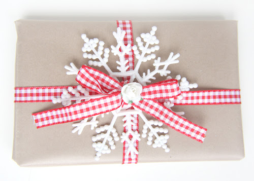 Red and White Scandinavian Inspired Gift Wrap