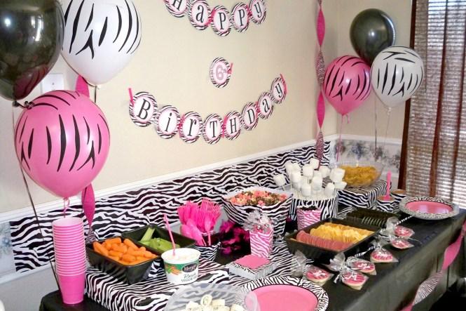 Image Of Pink And Black Zebra Bedroom Decor