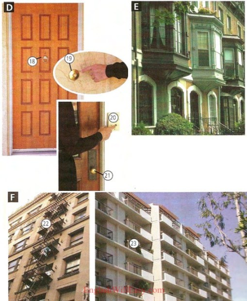 Apartments a Houses - Lle i fyw - Tai - Photo Dictionary
