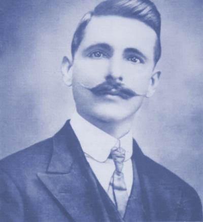 Isidoro Gracia García, en 1912, el año que nació su hija María África (María Montez).