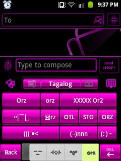 GO Keyboard - Eastern Emoticon Set 4: ORZ emoticon