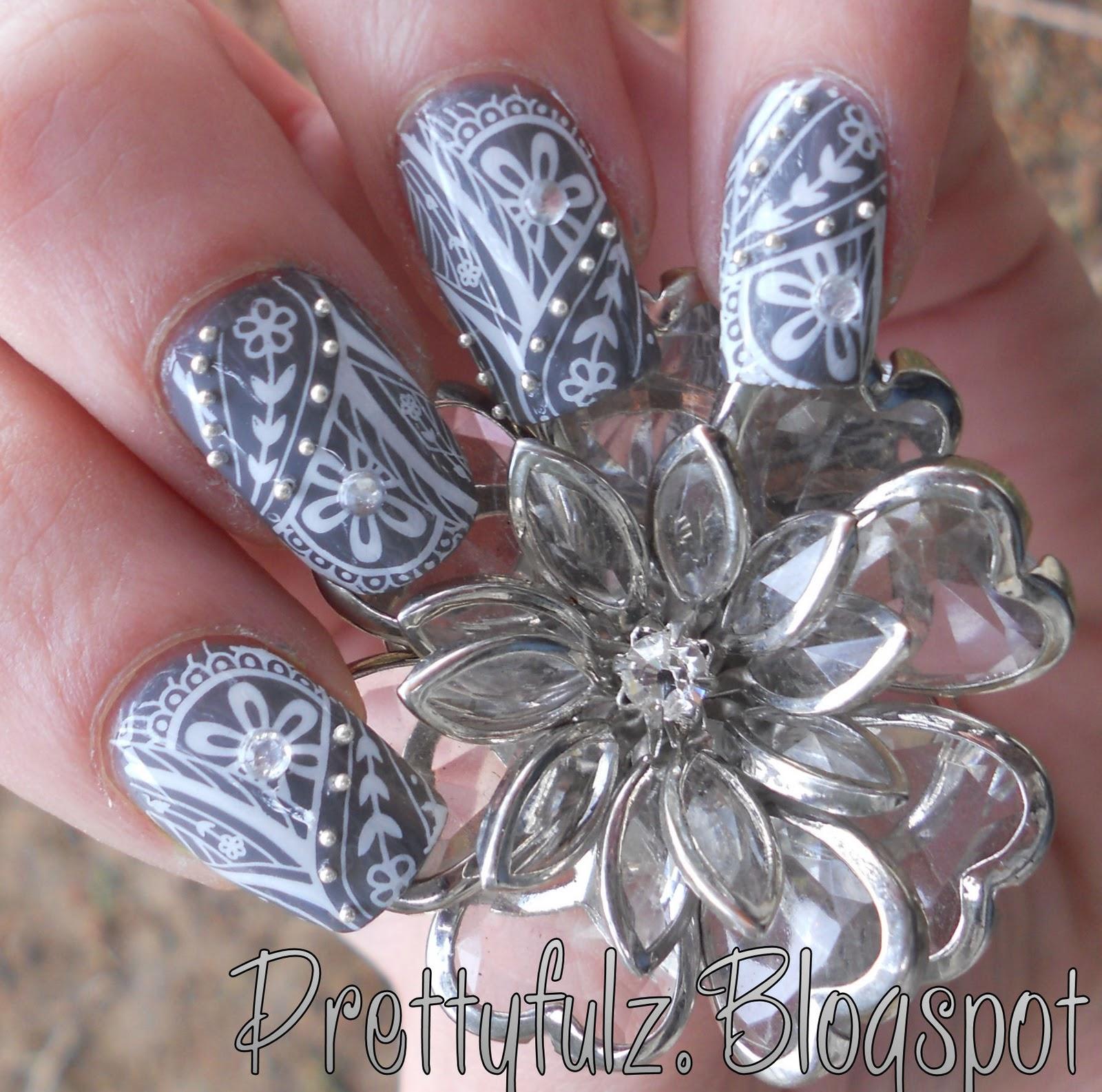 Konad Nail Art Cute Deco Flower Design Tutorial