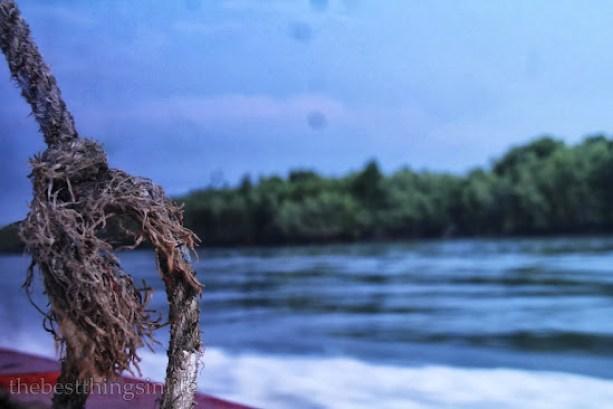 On the ferry, heading towards Pulau Ketam.