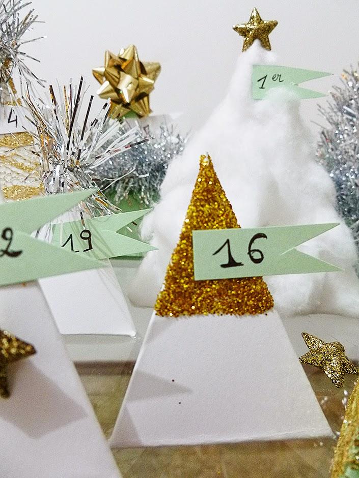 Décoration de Noël : calendrier de l'avent à faire soi-même.