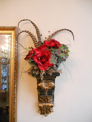 Burkett Blessings: Decorating with Floral Arrangements on Wall Sconce Floral Arrangements Arrangement id=18683