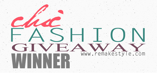 Remakestyle X Eazy Fashion: Chic Fashion Giveaway Winner