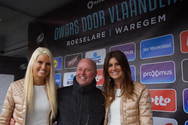 Schepen van Sport José Debels met Maja Leye en Lien Crapoen