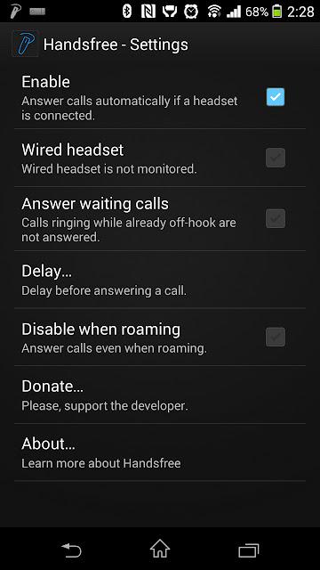 #Handsfree:使用藍牙耳機時自動接聽來電 (Android App) 2