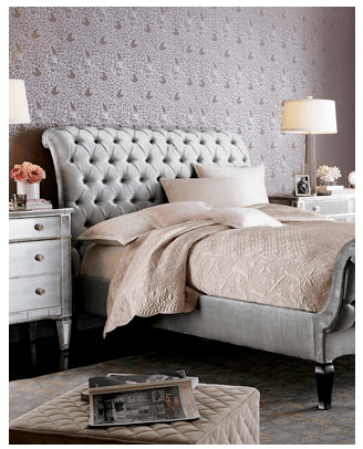 Awesome Horchow Platinum Tufted Bed