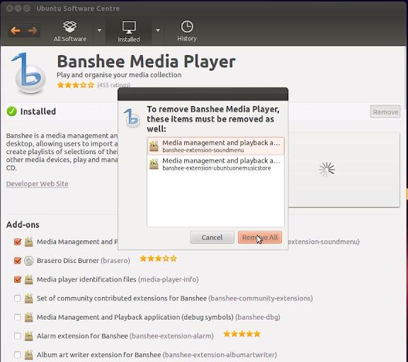 How-to: replace Banshee with Rhythmbox on Ubuntu 11.10 (1/3)
