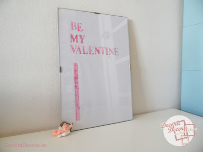 Lámina decorativa para San Valentín.